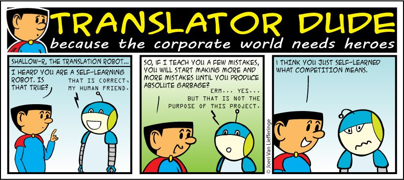cartoon van Translator Dude